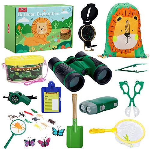 LBLA Kinder Outdoor Exploration Spielzeug 27 Stück,Spielzeug ab 3 Jahre Junge Mädchen, Kinder Forscherset Fernglas Spielzeug Draussen Spielzeug Kit ,Adventure Set