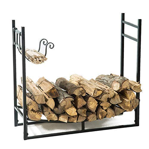 LITHER 17inch Folding Firewood Rack, Decorative Firewood Rack