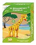 MAMMUT 156010 - Juego de manualidades 3D, puzle de jirafa, juego de rompecabezas con animales de safari, juego completo con piezas de puzzle e instrucciones, set creativo para niños a partir de 5 años