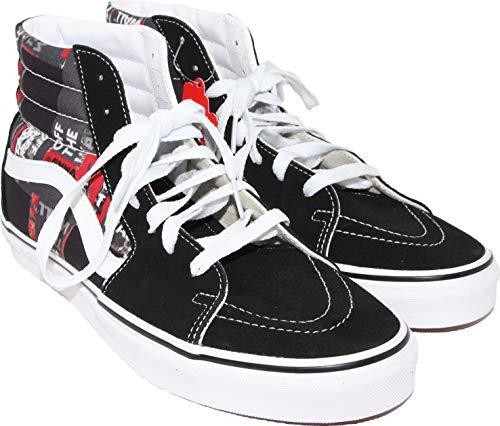 Vans Sk8-Hi Unisex Casual High-Top Skate-Schuhe, bequem und langlebig in charakteristischer Gummisohle, Schwarz (Packband), 10.5 Women/9 Men