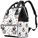 A Pedigreed Dog Diaper Bag Backpack, Multifunction Travel Back Pack Maternity Baby Changing Bags, Large Capacity, Durable and Stylish multicolor Multi07 27x19.8x36.5cm/10.6x7.8x14in