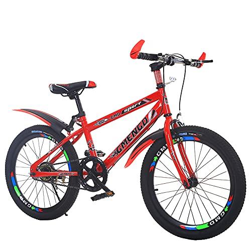 Bicicletas Para Niños 20/22 Pulgadas, Bicicletas De Cross-Country De Una Velocidad Para Niños, Niñas Y
