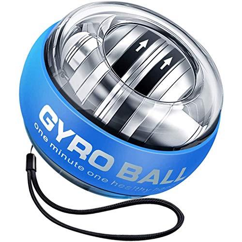 Power Wrist Ball Gyro Ball,Inicio AutomáTico Ejercicios De MuñEca Force Ball Con Luz Led Para RehabilitacióN Y Fortalecimiento De Manos, Gyro Entrenador De MuñEca Pelota De Giroscopio
