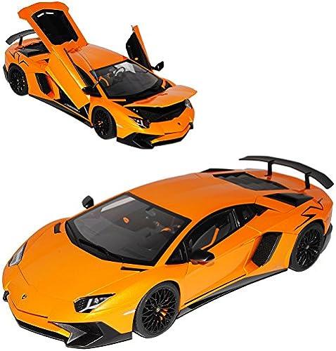 AUTOart Lamborghini Aventador LP750-4 SV Superveloce Coupe Orange 74557 1 18 Modell Auto
