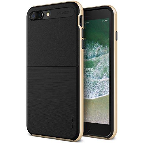 VRS - Custodia protettiva per iPhone 7 Plus, design VRS [oro] antiurto e resistente custodia antiurto in TPU per PC (nuovo scudo High Pro] per Apple iPhone 7 Plus