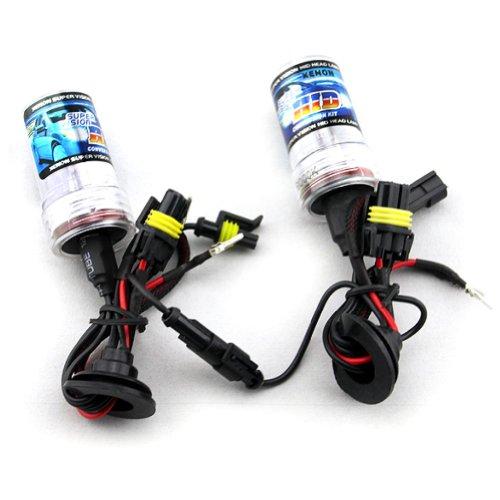 Starnill Car HID Xenon Single Beam Lights Bulbs Lamps H8 H9 H11 10000k Brilliant Blue (12v,35w) - 1 Pair