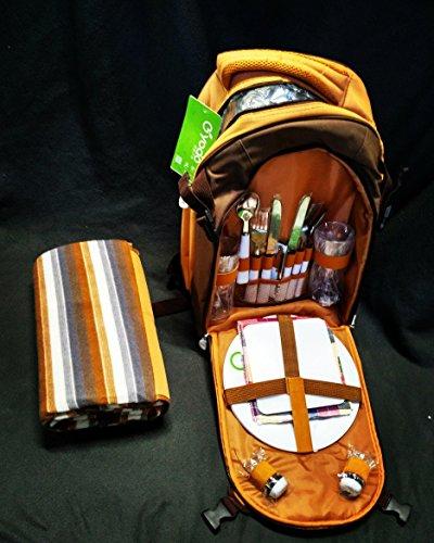 YODO exklusiver Picknickrucksack mit Inhalt für 2 Personen