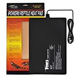 iPower 8 by 12-Inch Reptile Heat Mat Under Tank Heater Terrarium Heating Pad Ideal for Spider Snake Tarantula Hermit Crab Turtle, Black