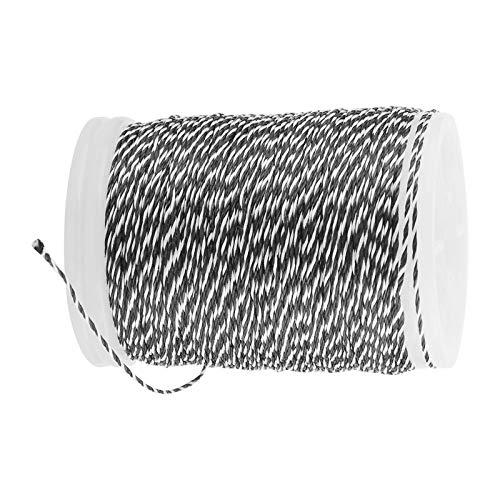 RENSHENKTO Hilo de servicio de cuerda de arco y uso durable de la secuencia de nylon para el blanco negro de la cuerda