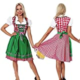 thematys Dirndl Oktoberfest Vestido Tradicional - Conjunto de Trajes para Damas Carnaval y Oktoberfest - 4 tamaños Diferentes (S, Style 1)