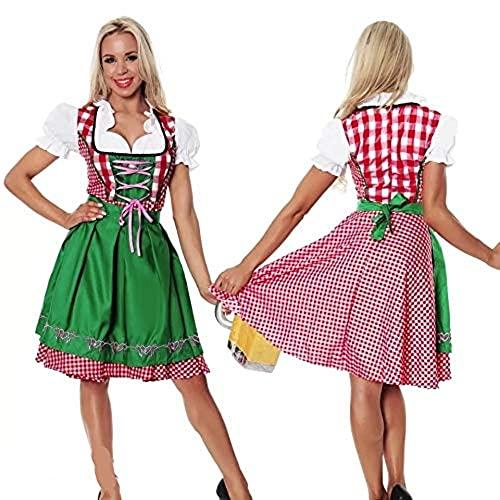 thematys Dirndl Oktoberfest Trachtenkleid - Kostüm-Set für Damen - perfekt für Fasching, Karneval & Oktoberfest - 4 Verschiedene Größen...