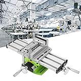 Mini Fräsmaschine Arbeitstisch Schraubstock Tragbare Verbundbank X-Y 2 Achsen Einstellbare