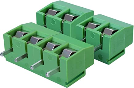 REFURBISHHOUSE 20Pcs de Bloque de terminales 8A 250V de Tornillo de Montaje de PCB de 2 Polos con Punta de 5 mm