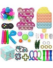 Fidget Toy Mystery Boxes Fidget Pack med enkla gropar och pop in dem i den, Fidget Pack sensorisk lindrar stressleksak för barn och vuxna ADD ADHD Autism (30 st D)