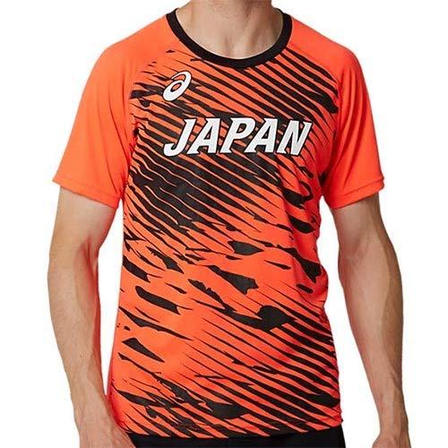 [アシックス] 陸上ウエア 日本代表レプリカシャツ サンライズレッド 日本 L (日本サイズL相当)