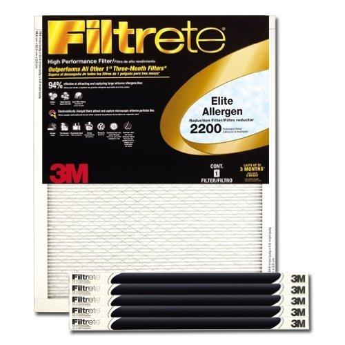 Filtrete Healthy Living Elite Allergen Reduction HVAC Air Filter, Uncompromised Airflow, Captures...