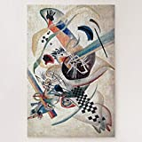 Jigsaw Puzzles 1000 Pieces For Adults Large Piece Puzzle Kandinsky Composition Abstract Art Painting Wooden Intellectual Jigsaw Puzzle Fun Challenging Family Activity Game Toys Gift Wall Decoration