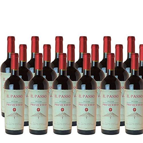 Rotwein Italien Primitivo Il Passo Puglia trocken (18x0,75L)