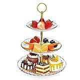 MOOKLIN ROAM Bandejas para tartas, Soporte de la Torta en 3 Niveles, Puesto de Servicio, Estables Y Desmontables, Fruta de Soporte Buffet para Cupcakes Food Dessert al Pomeriggio Tea Party Bodas