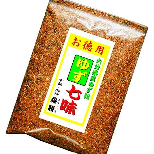 京都森勝 オリジナル 辛子調味料 お得用パッケージ ゆず七味 32g 袋入 (08:おお甘)