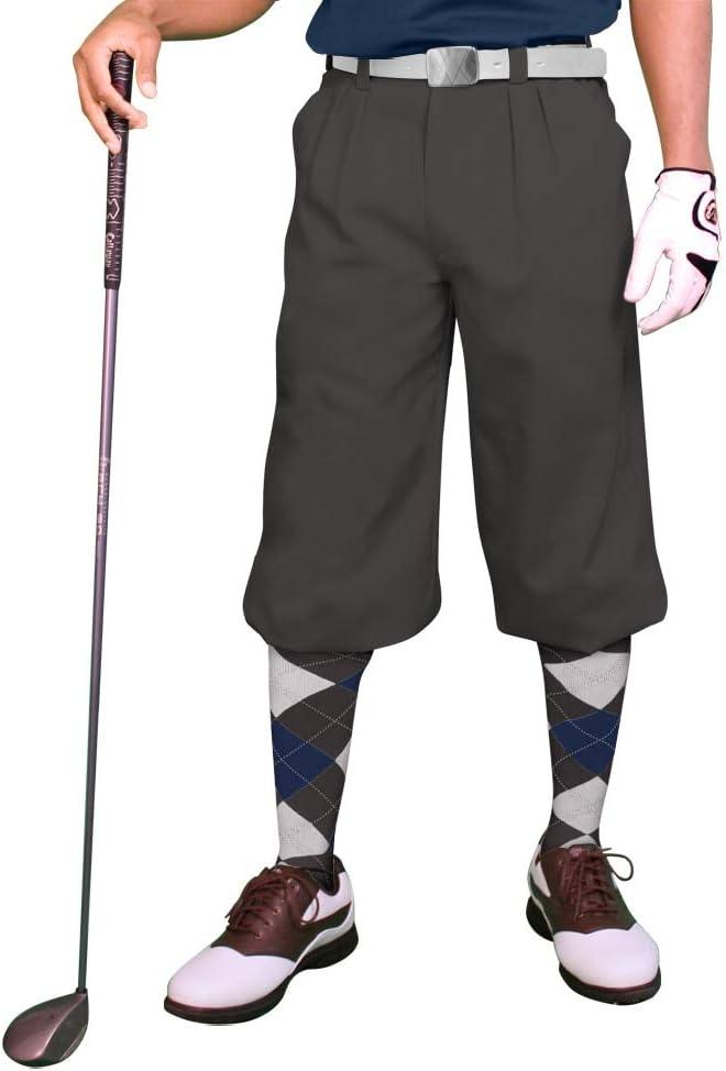 1920s Men's Pants History: Oxford Bags, Plus Four Knickers, Overalls Golf Knickers Charcoal Mens Par 3 - Microfiber  AT vintagedancer.com