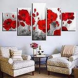 Leinwand gedruckt Bilder Wohnzimmer Wandkunst rahmenlos 5 Stück Gemälde Poster Modular Home Decor(size)