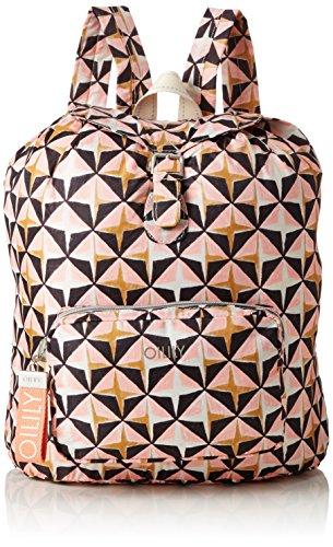 Oilily Damen Enjoy Geometrical Backpack Lvz Rucksackhandtasche Pink (Rose)
