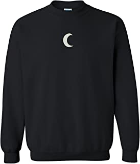 Crescent Moon Embroidered Crewneck Sweatshirt
