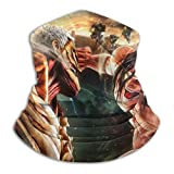 Att-ack-On-Titan Cubierta facial Escudo Calentador de cuello Bufanda para el cuello Cinta para la cabeza multifuncional Pañuelo para la cabeza Pasamontañas Escudos bucales elásticos Transpirable -27