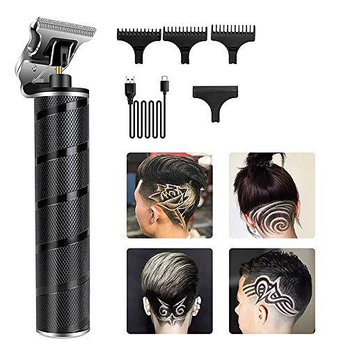 Beauhy Tondeuse à cheveux électrique professionnelle sans fil avec lame en T et planche à barbe, rechargeable par USB, pour la maison et le barbier (couleur : noir)