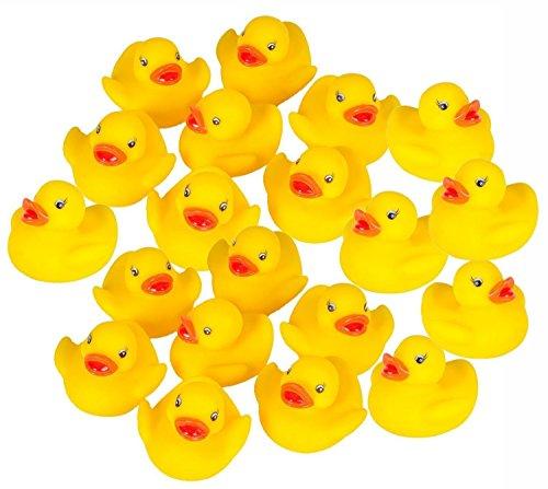 Hosaire 60 Stck Enten Baby Dusche Spielzeug Gelb Entchen Gummi-Ente,Squeeze Wird klingen