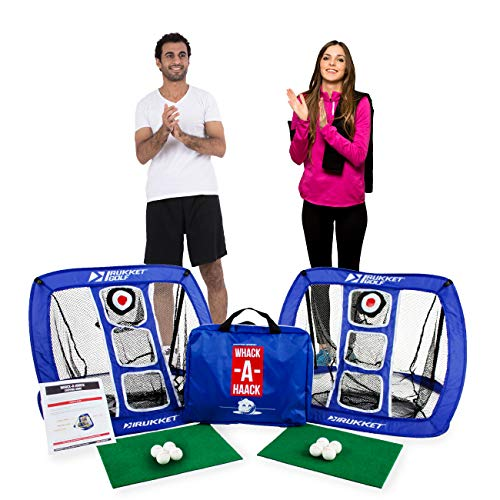 Rukket Golf Chipping Net Cornhole Game, Chip Outdoor/Indoor at Beach, Backyard or Tailgate, Golfing Practice Games for Adults and Kids