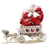 Skylofts Is A Registered Brand & A Fssai Approved Brand Size of the horse cart : 16cm *7cm*15cm ( height including the organza bag with chocolates) Can Be Used As A Decoration Piece Skylofts brings to you this assorted set of chocolates for your spec...