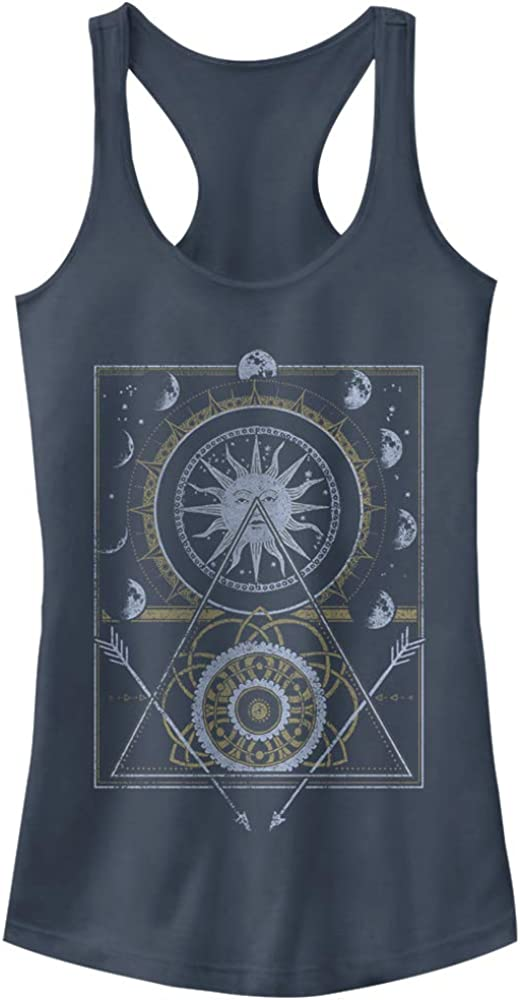 Junior's Price reduction Peaceful High material Warrior Moon Phases Top Tank Racerback