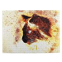 かわいい猫 (2) 500ピース ジグソーパズル ピクチュアパズル 木製の風景パズル、人物 動物 風景 漫画絵のパズル 大人の子供のおもちゃ家の装飾風景パズル Puzzle 52.2x38.5cm