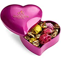 12-Piece Valentine's Day Heart Tin with Assorted G Cube Chocolate Truffles