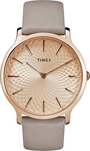 Timex Unisex Erwachsene Analoger Quarz Uhr mit Echtes Leder Armband TW2R49500