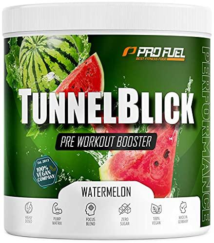 Pre-Workout-Booster Trainingsbooster 360g - Watermelon - TUNNELBLICK Booster mit Citrullin, Taurin, Koffein & Guarana - optimal hochdosiert - Made in Germany