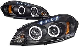 ZMAUTOPARTS 15 Chevy Impala/ Monte Carlo Halo DRL LED Projector Headlight Lamp Black