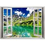 murando 3D WANDILLUSION Wandbild Landschaft See Fototapete