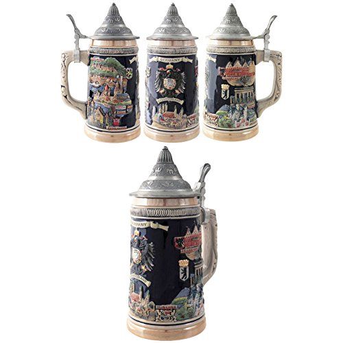 SK Jarra Decorativa de Cerveza Alemana Ceramica Escudo Germany Deutschland 750 ML