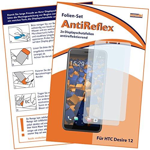 mumbi Schutzfolie kompatibel mit HTC Desire 12 Folie matt, Bildschirmschutzfolie (2X)