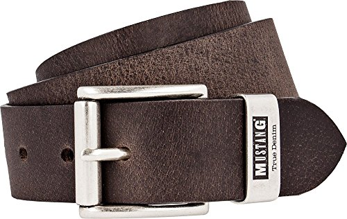 Mustang Belts Herren MG2004R04 Gürtel, Braun (Dark brown 0690), 90 cm