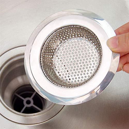 ZYZ 2 Stks Roestvrij Staal Keukenwastafel Strainer Brede Rand voor de meeste wastafel Drains Anti Clogging Micro Perforation Roest Gratis Vaatwasser Veilig