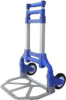 STC / Inicio turcks Carretilla Plegable de Compras del Carro del Equipaje del Carro de Aluminio portátil del Equipaje (Color : Azul)