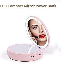 Momoho - Cargador de Espejo Compacto con batería de 4000 mAh de Viaje de Mano para Smartphone