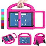 LEDNICEKER Kids Case for Onn 7 Tablet ,Onn 7 inch Tablet Case with Built-in Screen Protector, Lightweight Shockproof Handle with Stand Kid-Proof Case for Onn 7 inch Tablet (Model:100015685) , Rose