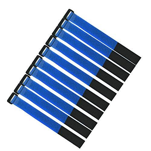 XJF 10 cintas autoadhesivas con gancho para sujetar cables, correa y organizador