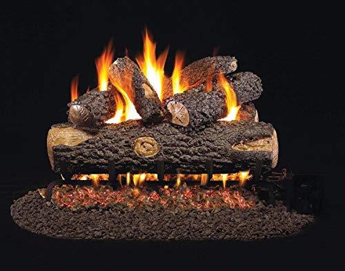 """Peterson Real Fyre 24"""" Big-Stack Split Oak Gas Logs Only No Burner"""