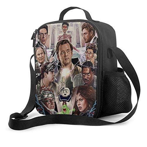 Ghost Busters Insulated Lunch Bags For Women & Men Reusable Lunch Box Office Travel Work Beach Boating Fishing Luncheon Bag